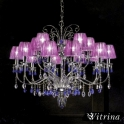 Люстра Beby Group / Di Luce 118/10+5 Violet (Италия)